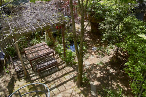 Furnished 5 1/2 on 2 levels with large backyard in the Plateau