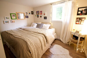 Cheery 2 bedrm suite in home. Pet friendly. Avail Dec 15