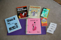 Spanish books and cassettes