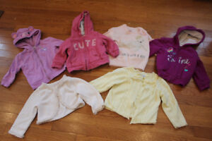 6x Girls Sweaters 6-18 months