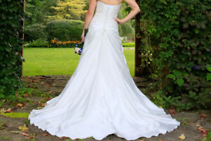 Strapless wedding gown - with tiara