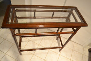 Bombay Rectangular Glass Accent Table