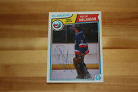 "Autographed Roland ""Rollie the Goalie"" Melanson Rookie Card"