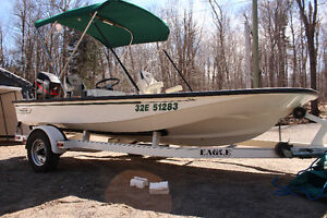 Boston Whaler Alert 50HP With Eagle Trailer Mint Condition