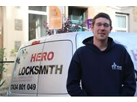 Hero Locksmith- Trusted trader member, 24 hour mobile locksmith
