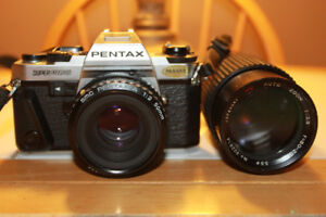 Pentax Super Program 35mm Film Camera With Two Lenses