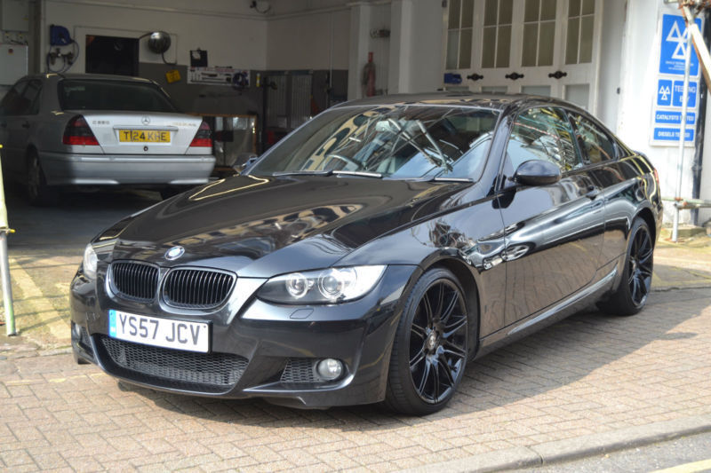 bmw 320 2 0 i m sport coupe 2008 full service history black leather in hove east sussex. Black Bedroom Furniture Sets. Home Design Ideas