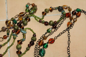 long string necklaces lot