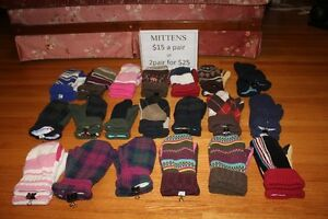 Mittens - home made from sweater