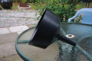 """10""""Wide - Large Black Plastic Funnel"""