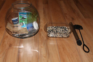 for sale fish bowl with all the accessories