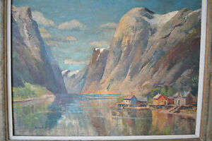 Johann Holmstedt (1851-1929)Mountain Lake Oil on canvas Painting