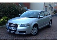 2007 AUDI A3 1.9TDI, SPORTBACK, SPECIAL EDITION, GENUINE 64000 MILES, FULL HISTORY, MOT 11 MONTHS