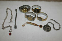 Mens Vintage and Antique Watches and Chains with Fobs