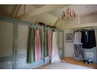 Bridesmaid Dresses - sleeveless, cowl back, floor length 3 pink, 3 green
