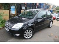 Ford Fiesta 1.4 3 Door Black With Black Leather Seats Full Service History Finan