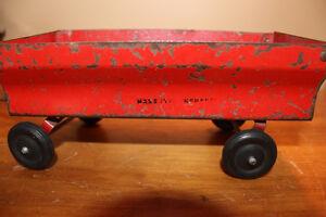 Vintage Tin Toy Farm Wagon - Massey Ferguson London Ontario image 6