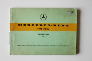 MERCEDES-BENZ Type 190Db 1959 parts catalog