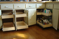 MAKE YOUR CUPBOARDS MORE USER FRIENDLY--WITH ROLLING SHELVES