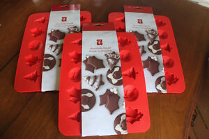 3 Silicone Xmas Candy (chocolate) /  Baking Molds