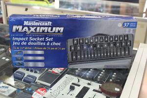 Mastercraft maximum impact 37pc socket set