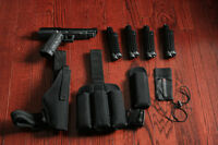 Tiberius 8 Paintball Pistol w/ accessories and gear