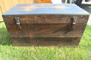 Old Antique Settler's Box/Chest London Ontario image 4