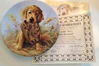 Golden Retriever Collector Plate,  1987,  KNOWLES