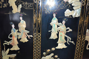 Oriental Wooden Mother Of Pearl Wall Hanging 4 Panels TRADES OK Gatineau Ottawa / Gatineau Area image 2