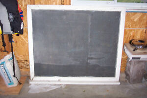 Early 20th century schoolhouse SLATE chalkboard with wood frame Kingston Kingston Area image 1