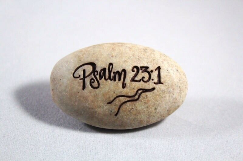 Pocket Stone Psalm 23:1 The Lord is my Shepherd I Shall  Bible Verse Brand NEW