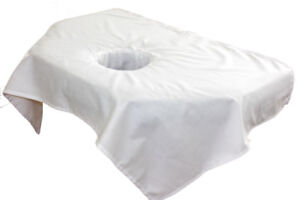 [$5.99] Sectional Small Massage Table Sheets with Face Rest Hole