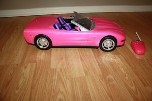 Remote Control Barbie Corvette and Vespa/Scooter