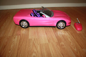 Remote Control Barbie Corvette and Vespa/Scooter Moose Jaw Regina Area image 1