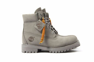 """USED TIMBERLAND 6"""" BOOTS GREY/GREY"""
