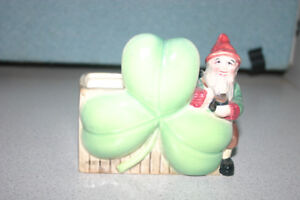 Shafford Lepperchaun and 3 leaf clover dish PRICE REDUCED!