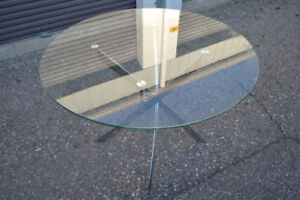 MODERN GLASS TOP DINING TABLE ONLY $250!!!
