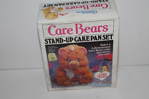 Vintage Care Bears Stand Up Cake Pan Set IN BOX