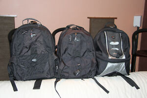Various camera bags - Lowepro, Canon, Tamrac, Sony