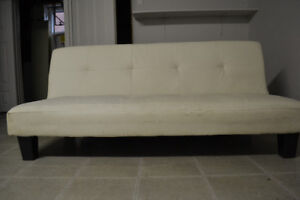 White Leather Sofa Bed - ONLY until AUG15!
