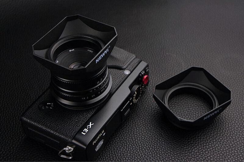 49MM Universal Square Lens Hood for DSLR Mirrorless Camera Lens Camcorder DV