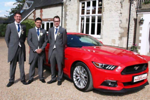 RED FORD MUSTANG WEDDING - special EVENTS CAR HIRE