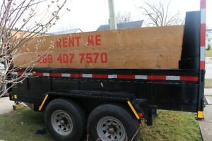 80$ a day  DUMP TRAILER FOR RENT