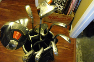 Complete Set of Quality Golf Clubs (Cobra S9 irons) and Bag