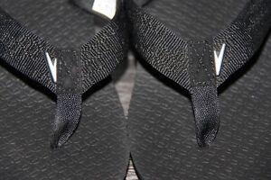 Ladies Wedge Flip Flops - Black/Grey - Size 9 Kingston Kingston Area image 4