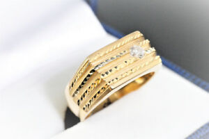 NEW SOLID. HEAVY 14K. ITALIAN GOLD & DIAMOND SOLITAIRE RING SALE