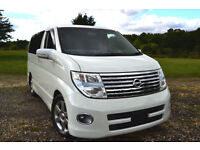 FRESH IMPORT 2005 FACE LIFT NISSAN ELGRAND HIGHWAY STAR 3.5 V6 AUTO PEARL WHITE