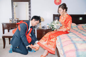 Chinese Kwa and wedding dress for sale