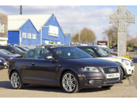 2008 (58) AUDI A3 2.0 TFSI S-LINE CONVERTIBLE Sport Cabriolet Manual Climate FSH