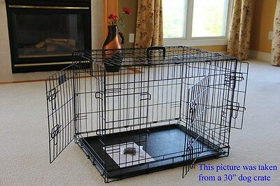 EliteField 3-Door Folding Dog Crate Cage Kennel w/RUBBER FEET 5 Sizes 10 Models